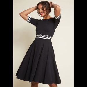 Collectif x Modcloth Black and White swing dress